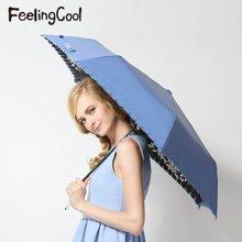 飞兰蔻 太阳伞防紫外线黑胶遮阳伞随花绮梦