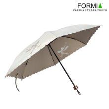 FORMIA 芳美亞雨傘折疊女兩用黑膠太陽傘防曬防紫外線戶外遮陽傘