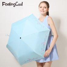 飞兰蔻 新品防风太阳伞时尚印花银胶防紫外线遮阳伞草莓印象