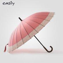 easily24骨洛樱粉晴雨伞拒水长柄创意日系樱花伞女士超大伞太阳伞