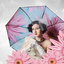 奈洛雨伞 女双层防晒遮阳伞女创意加厚黑胶防紫外线太阳伞三折晴雨两用伞