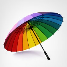 奈洛24骨雨伞女加大彩虹伞 创意小清新长柄伞晴雨伞太阳伞遮阳伞