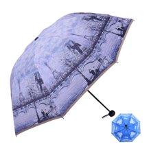 天堂伞 埃菲尔铁塔伞  三折双层防紫外线太阳伞 晴雨伞 折叠遮阳伞 30032EWWP