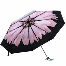 天堂伞 UPF50+ 全遮光黑胶?#27490;?#19977;折伞 小黑伞 太阳伞 晴雨伞 31806E