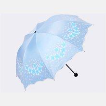 天堂伞 花儿公主女士轻款黑胶伞 防晒防紫外线遮阳伞 晴雨伞 33401E
