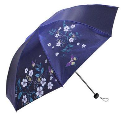 天堂伞 三折黑胶图层防晒遮阳防紫外线晴雨伞3308E
