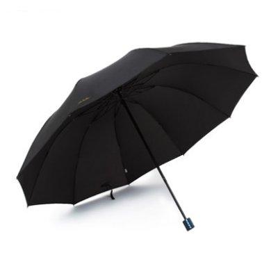 天堂伞 商务大款10骨拒水黑胶加固晴雨伞 30266E