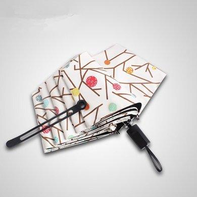 BET.韓國小清新遮陽黑膠傘樹枝萌芽創意太陽傘晴雨傘6006