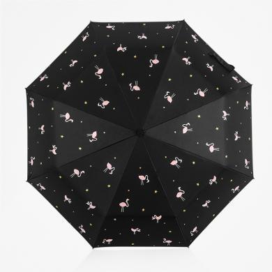 easily創意折疊黑膠遮陽傘 太陽傘 防曬傘 三折晴雨傘防曬防紫外線太陽傘女