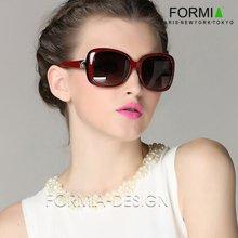 Formia眼镜女士眼镜太阳镜墨镜女防辐射眼镜大框眼镜潮人新款  红色