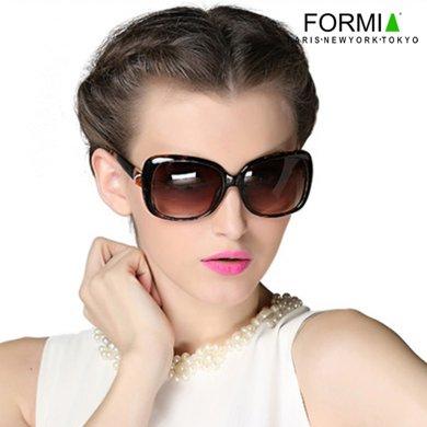 Formia眼鏡女士眼鏡太陽鏡墨鏡女防輻射眼鏡大框眼鏡潮人新款  豹紋
