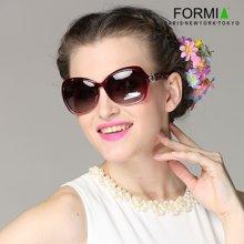 Formia芳美亞新款女士太陽鏡復古時尚優雅防紫外線偏光鏡墨  紅色