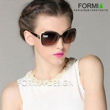 Formia眼鏡女士眼鏡太陽鏡墨鏡女防輻射眼鏡大框眼鏡潮人新款  咖色