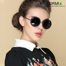 Formia芳美亞新款太陽鏡時尚舒適防紫外線偏光鏡墨鏡 圓黑色