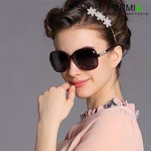Formia芳美亚新款女士太阳镜复古时尚优雅防紫外线偏光镜墨  红色一