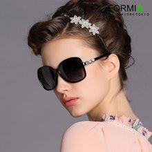 Formia芳美亚新款女士太阳镜复古时尚优雅防紫外线偏光镜墨  黑色一