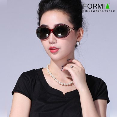 Formia芳美亞新款太陽鏡時尚舒適防紫外線偏光鏡墨鏡 紫紅色