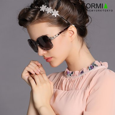 Formia芳美亞新款女士太陽鏡復古時尚優雅防紫外線偏光鏡墨  咖色