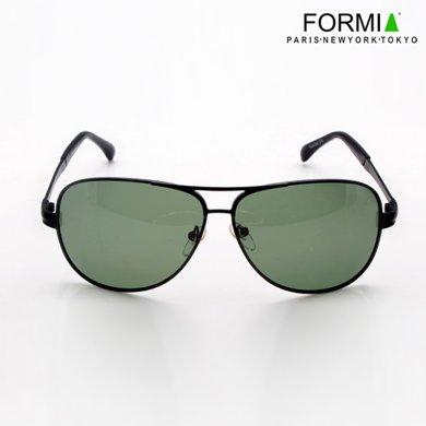 Formia芳美亞男士太陽鏡潮人偏光鏡蛤蟆鏡墨鏡司機專用駕駛鏡男太陽眼鏡  黑色