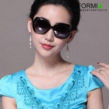 Formia芳美亞新款女款太陽鏡時尚大框防紫外線偏光鏡墨鏡 黑色