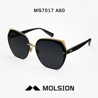 MOLSION陌森 太陽鏡女明星同款圓臉墨鏡潮眼睛MS7017