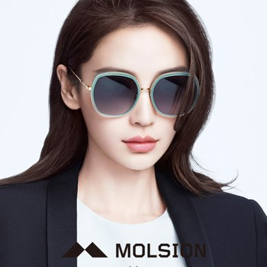 MOLSION陌森 明星同款太阳镜女潮墨镜大框偏光镜MS6038