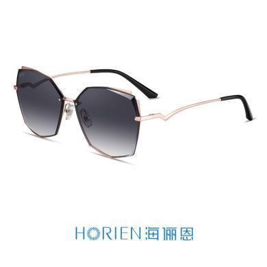 海儷恩新款2019墨鏡女韓版潮開車大框圓臉眼鏡近視駕駛太陽鏡N6708