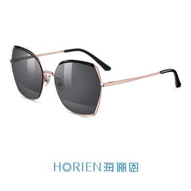 海儷恩新款近視太陽鏡配鏡套餐多色炫彩鍍膜大框墨鏡女N6725