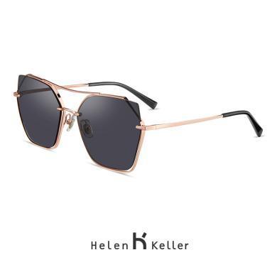 海伦凯勒2019新款多边个性潮流墨镜优雅大框?#29123;?#22826;阳眼镜女H8811