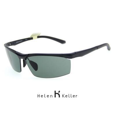 海倫凱勒男士潮戶外運動太陽鏡登山駕駛鋁鎂眼鏡偏光墨鏡H8872