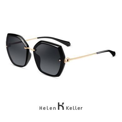 海倫凱勒2019新款時尚百搭多邊大框墨鏡女潮流偏光太陽鏡H8831