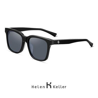 海倫凱勒2019新款太陽鏡男款開車炫彩墨鏡時尚方框偏光鏡H8856