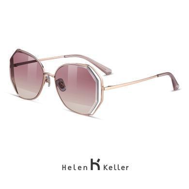 海倫凱勒2019新款韓版潮流明星眼鏡大框太陽鏡圓臉偏光墨鏡女H8826
