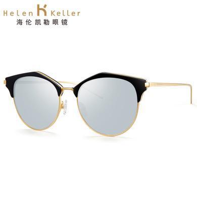 海倫凱勒 太陽鏡女潮明星款墨鏡圓臉個性時尚偏光太陽鏡H8608