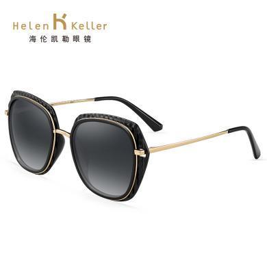海倫凱勒新款大框潮黑色墨鏡復古方形太陽鏡女定制近視開車鏡H8722