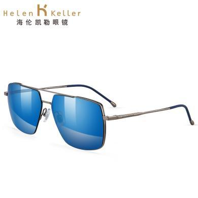 海倫凱勒新款男士偏光開車鏡時尚墨鏡個性定制近視太陽鏡H8762