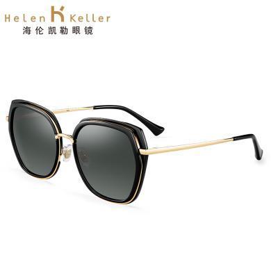 海倫凱勒新款圓臉大框偏光太陽鏡女摩登優雅高清偏光墨鏡H8726