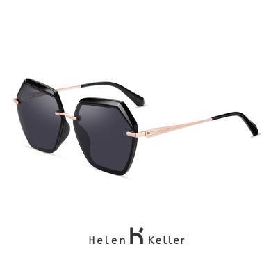 海倫凱勒太陽鏡2019年圓臉大框時尚潮流林志玲同款偏光墨鏡H8827