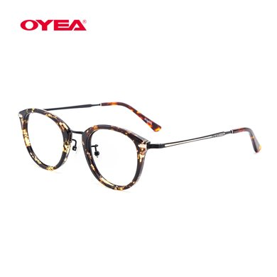 oyea歐野近視鏡精致麗人全框女款時尚復古近視眼鏡框架含片M114