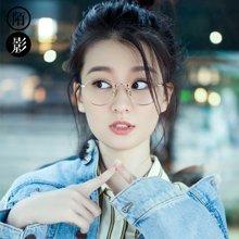 陌影MAEKIN纯钛眼镜框女 轻巧圆形框韩版平光眼镜男 可配成品近视镜架