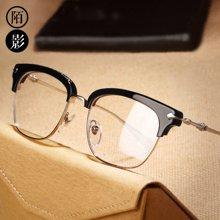 明星同款眼镜框男复古纯钛防辐射蓝光电脑护目平光镜近视眼镜女