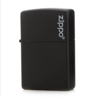 ZIPPO打火机218ZL(黑哑漆商标)