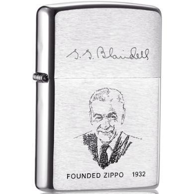 ZIPPO打火机 200FL 创办人签名肖像