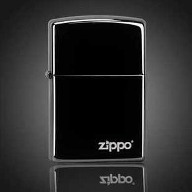 ZIPPO打火机 150ZL 黑冰商标