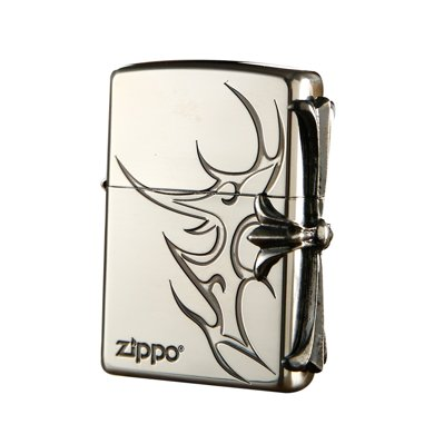 ZIPPO打火機(3面纖巧側十字-銀色)