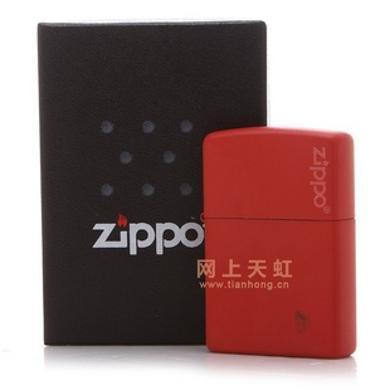 ZIPPO打火機233ZL(紅啞漆商標)
