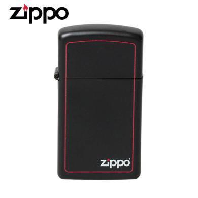 ZIPPO打火機1618ZB(纖巧黑啞漆框商標)