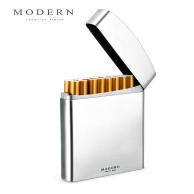 德國Modern不銹鋼香菸盒:龍騰四海、錦繡繁花、表面拉絲