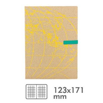 香港 Daycraft 德格夫-旅游日志系列筆記本(黃色地圖封面)