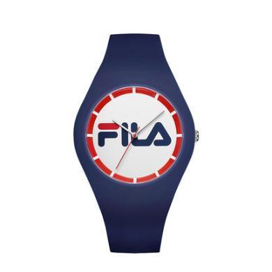 FILA斐樂手表男表女表情侶表學生硅膠石表時尚運動手表671